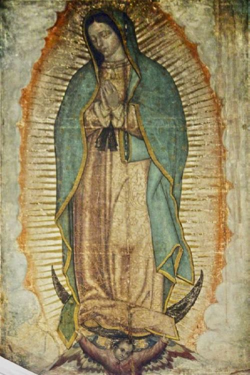 Icon of the Virgin of Guadalupe in the Church of Our Lady of Guadalupe, Mexico City, Mexico