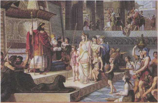 In Judea, the queen asked Solomon tricky questions