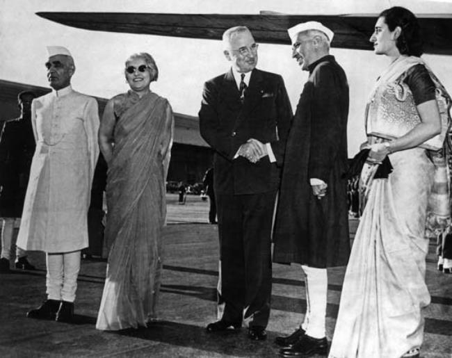 Jawaharlal Nehru and his daughter Indira