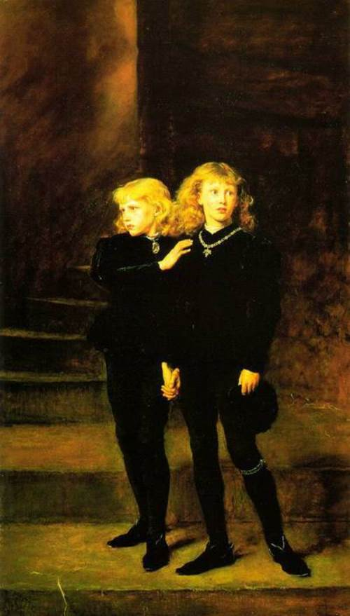 John Everett Millais. Princes in the Tower