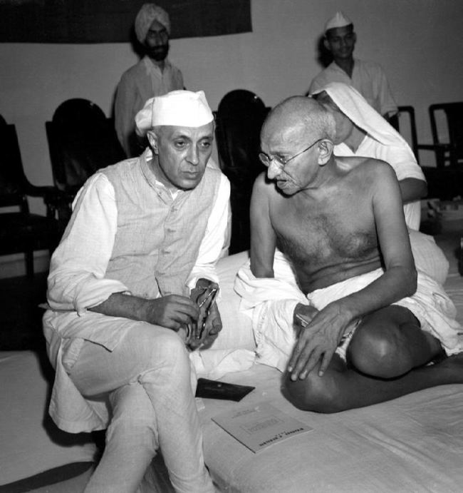 Mahatma Gandhi and Nehru