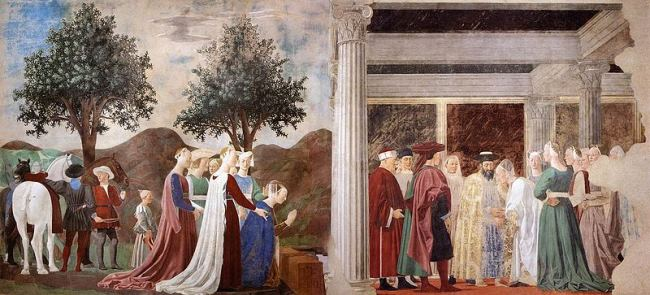 Piero della Francesca. Procession of the Queen.