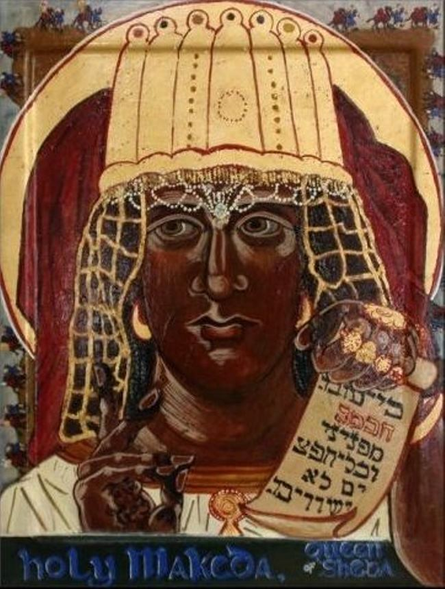 Saint Makeda, Queen of Sheba. Modern icon