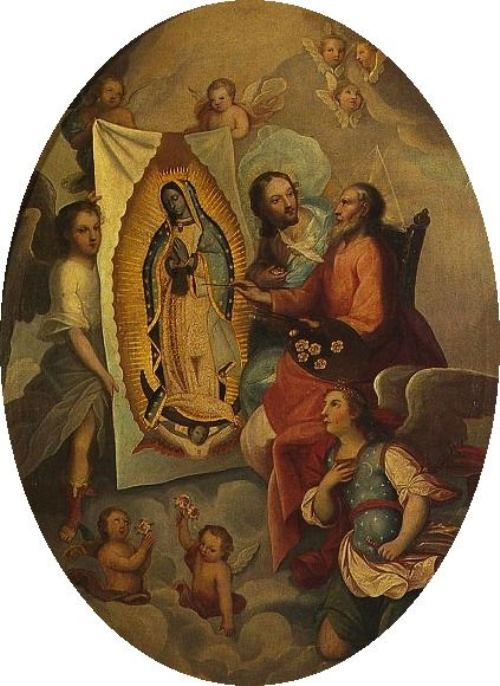 The creation of the miraculous Image in the painting of the artist of the XVIII century