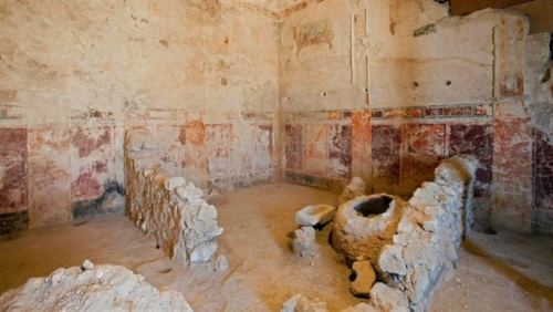 The hall where the sarcophagus of Herod the Great was