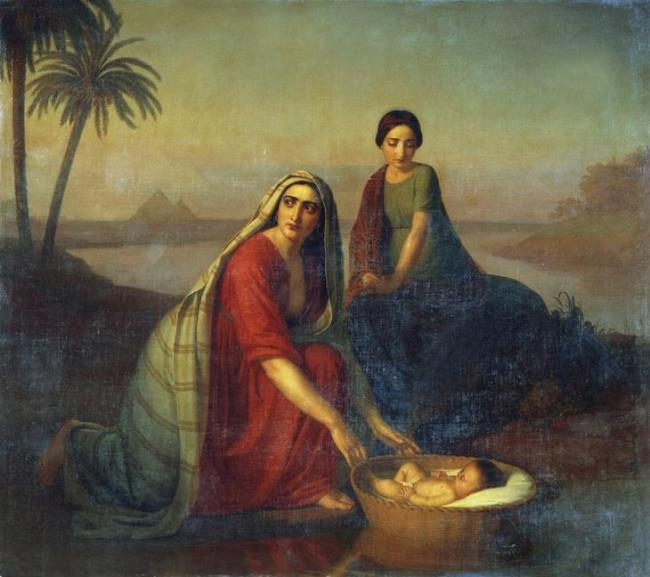 A.V. Tyranov. 1839-42. Moses and his mother