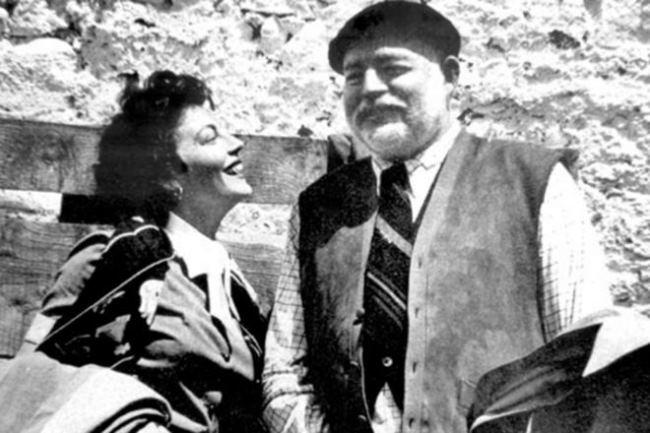 Ernest Hemingway and Ava Gardner