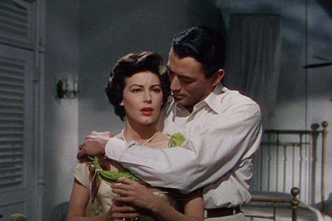 Gregory Peck and Ava in the film The Snows of Kilimanjaro