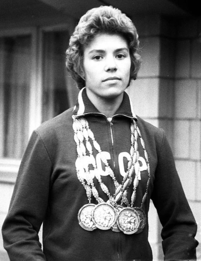 Latynina won a stunning eighteen Olympic medals between 1956 and 1964