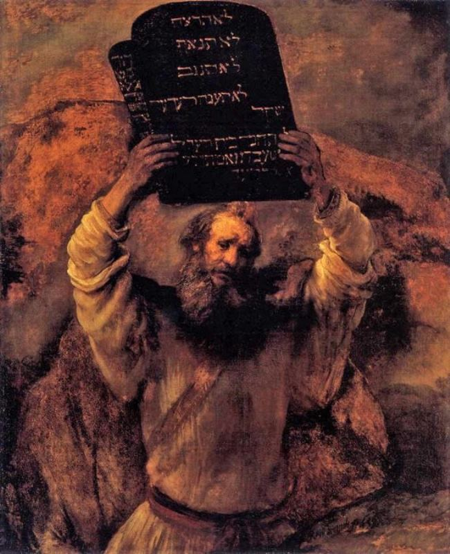Rembrandt Harmenszoon van Rijn. Moses with the Tablets of the Laws, 1659