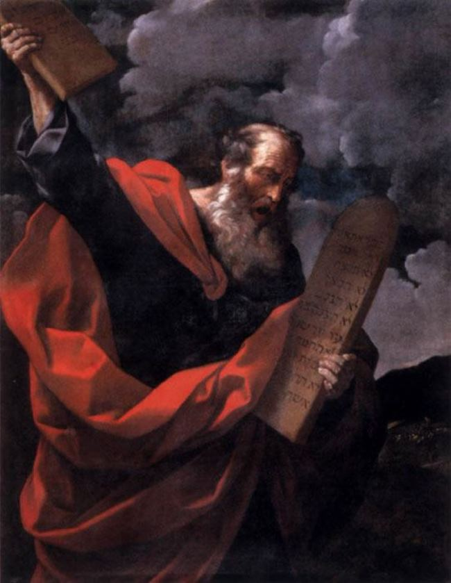 Reni Guido. Moses with the commandments