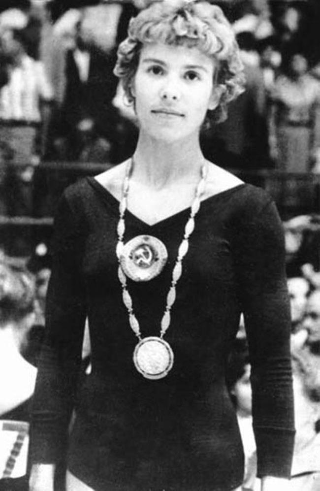 Russian gymnast Larisa Latynina