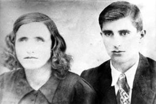 Vanga and her husband Dimitar Gushterov